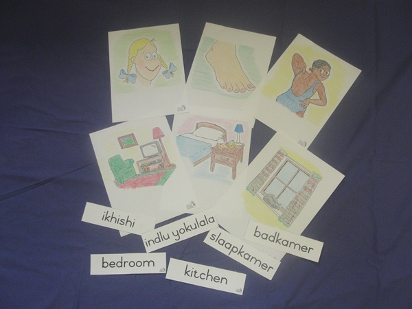 Colour picture flashcards and word flashcards